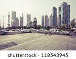 avenue in modern city | Shutterstock . vector #118543945