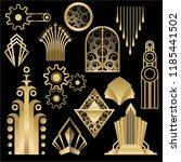 art deco art nuvo diy vector... | Shutterstock .eps vector #1185441502