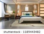 3d rendering beautiful luxury... | Shutterstock . vector #1185443482