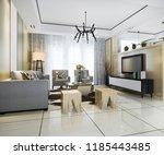 3d rendering white modern... | Shutterstock . vector #1185443485