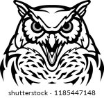 furious owl head | Shutterstock .eps vector #1185447148