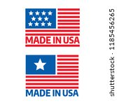 made in usa premium quality... | Shutterstock .eps vector #1185456265