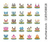 fort flat vector icons | Shutterstock .eps vector #1185458818