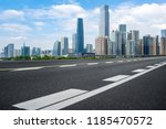 road pavement and guangzhou... | Shutterstock . vector #1185470572