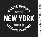 new york   original vintage... | Shutterstock .eps vector #1185473482