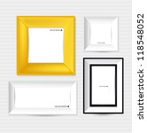 collection of modern frames on... | Shutterstock .eps vector #118548052