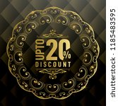 upto 20  off special offer ad.  ... | Shutterstock .eps vector #1185483595