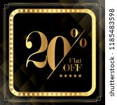 upto 20  off special offer ad.  ... | Shutterstock .eps vector #1185483598
