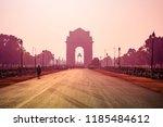 india gate  new delhi  november ... | Shutterstock . vector #1185484612
