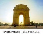 india gate  new delhi  november ... | Shutterstock . vector #1185484618