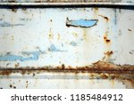 a rusty wall. blue and white... | Shutterstock . vector #1185484912