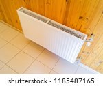 heater in the house on the... | Shutterstock . vector #1185487165