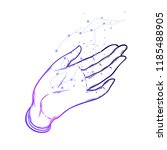 open hands with constellation.... | Shutterstock .eps vector #1185488905