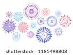 festive fireworks. celebration... | Shutterstock .eps vector #1185498808