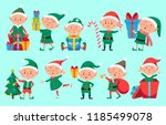 Christmas Elf Character. Cute...