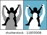 father and son  vector  | Shutterstock .eps vector #11855008