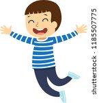 happy school multiracial... | Shutterstock .eps vector #1185507775