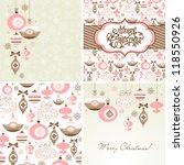 set of christmas retro... | Shutterstock .eps vector #118550926