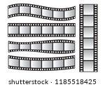 slide film frame set  film roll ... | Shutterstock . vector #1185518425
