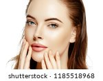 beauty face woman closeup... | Shutterstock . vector #1185518968