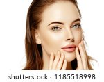 beauty face woman closeup... | Shutterstock . vector #1185518998