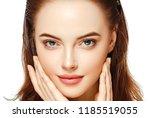 beauty face woman closeup...   Shutterstock . vector #1185519055