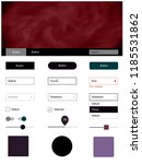 dark pink  green vector ui kit...