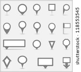 collection of simple gray map... | Shutterstock .eps vector #118553545