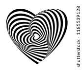 geometric optical illusion... | Shutterstock .eps vector #1185539128