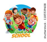 back to school circle banner | Shutterstock .eps vector #1185539608