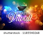diwali lamp background with... | Shutterstock .eps vector #1185540268