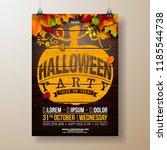 halloween party flyer... | Shutterstock .eps vector #1185544738