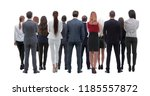 back view group of business... | Shutterstock . vector #1185557872