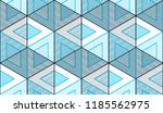 geometric cubes abstract... | Shutterstock .eps vector #1185562975