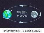 tourism on the moon ... | Shutterstock .eps vector #1185566032