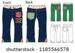 vector illustration of pants.... | Shutterstock .eps vector #1185566578