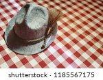 traditional bavarian hat close... | Shutterstock . vector #1185567175