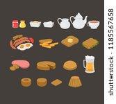 british cafe menu elements set. ... | Shutterstock .eps vector #1185567658