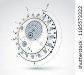 geometric technology 3d vector... | Shutterstock .eps vector #1185573322