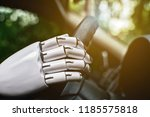 robot smart car driving system... | Shutterstock . vector #1185575818