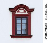 window of an ancient building.... | Shutterstock . vector #1185580102
