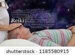 giving a reiki healing word... | Shutterstock . vector #1185580915