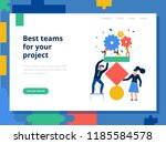 teamwork page concept with best ... | Shutterstock .eps vector #1185584578