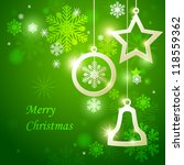 christmas background. vector... | Shutterstock .eps vector #118559362