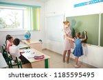 education  high school concept  ...   Shutterstock . vector #1185595495