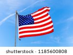 close up flag of united states...   Shutterstock . vector #1185600808