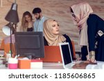 young creative startup business ... | Shutterstock . vector #1185606865
