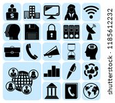 set of 22 business icons or... | Shutterstock .eps vector #1185612232