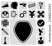 set of 17 business icons ... | Shutterstock .eps vector #1185612352