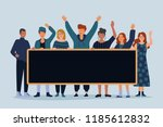 illustration of group of young... | Shutterstock .eps vector #1185612832